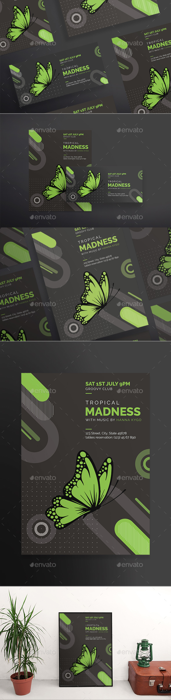 Tropical Madness Flyers - Clubs & Parties Events