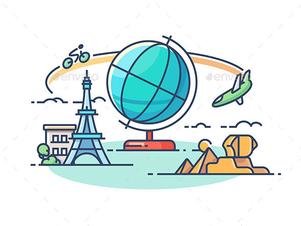 GraphicRiver Travel Around World 20715024