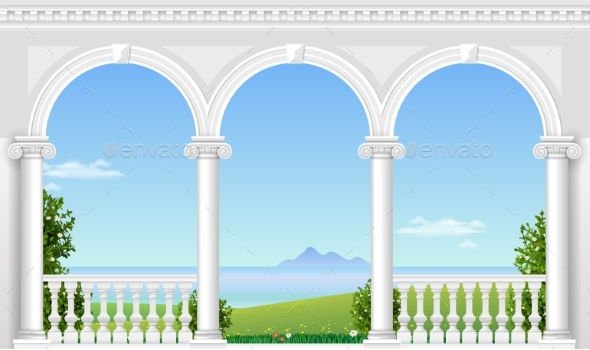 White Arch of the Palace - Buildings Objects
