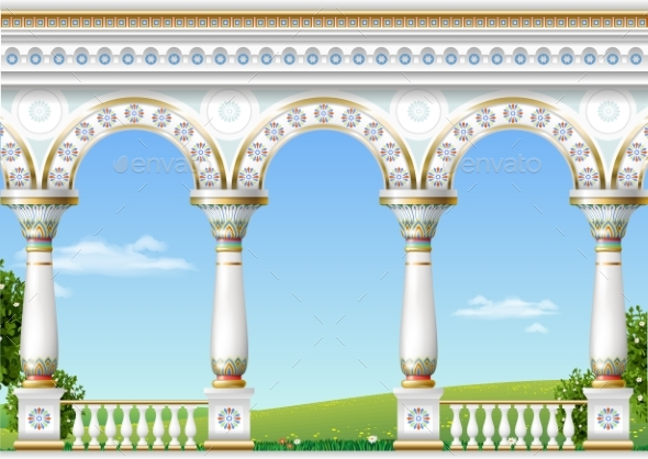 GraphicRiver Classical Arch of the Eastern Palace 20715079