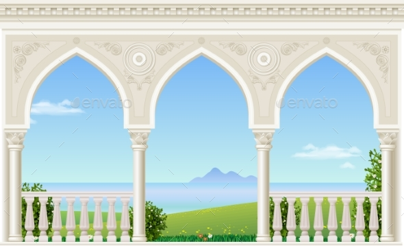 Classic Arch of the Palace - Buildings Objects