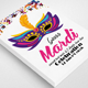 Mardi Grass Flyer Template