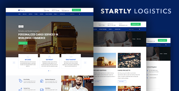 Start.ly — Logistics, Cargo & Transportation Website Template