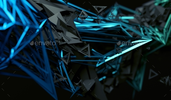 GraphicRiver Abstract 3D Rendering of Polygonal Shape 20715515