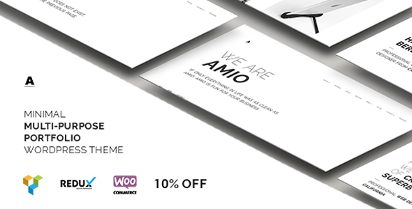 Amio – Minimal Multi-Purpose Portfolio WordPress Theme - Portfolio Creative