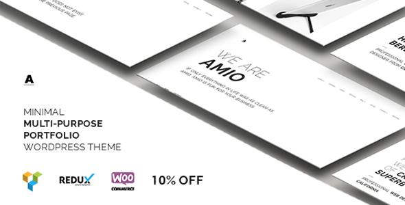 Amio – Minimal Multi-Purpose Portfolio WordPress Theme