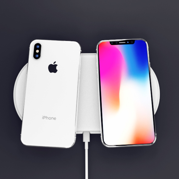Apple iPhone X Black and White High Poly Model - 3DOcean Item for Sale