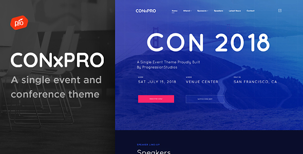 CONxPRO - A single event and conference theme
