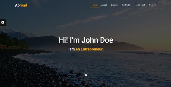 Abroad - Personal Portfolio Template