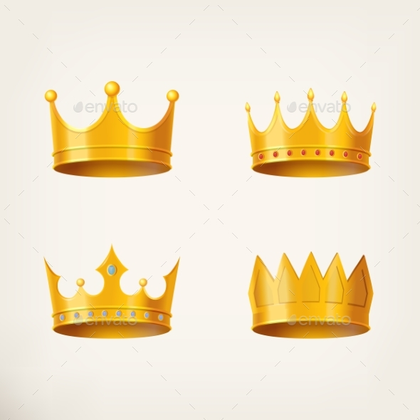 GraphicRiver 3D Golden Crown for Queen or Monarch 20715916