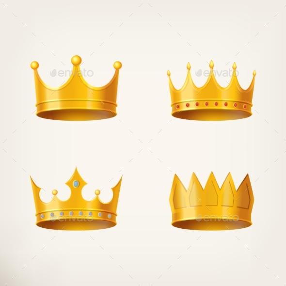 3D Golden Crown for Queen or Monarch - Miscellaneous Vectors