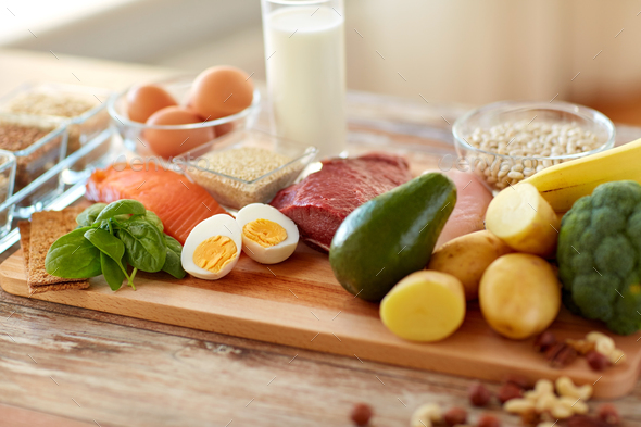 natural rich in protein food on table