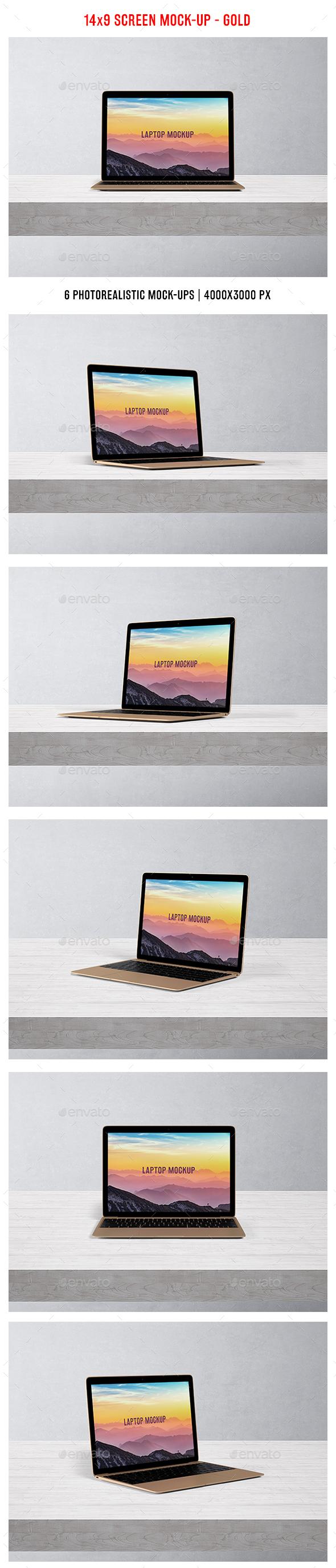 Laptop Mockup - Gold - Laptop Displays