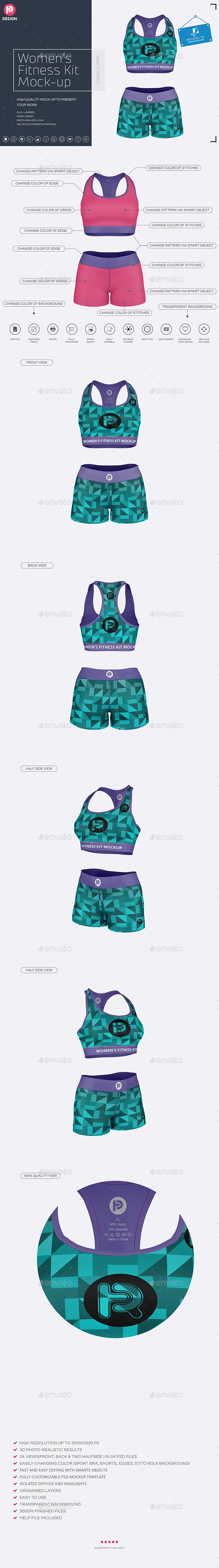 GraphicRiver Women's Fitness Kit Mock-Up v1 20716230
