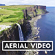 Aerial Shot of Kilt Rock Waterfall in Scotland - VideoHive Item for Sale