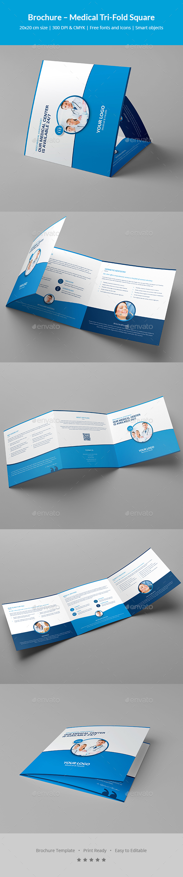 Brochure – Medical Tri-Fold Square - Informational Brochures