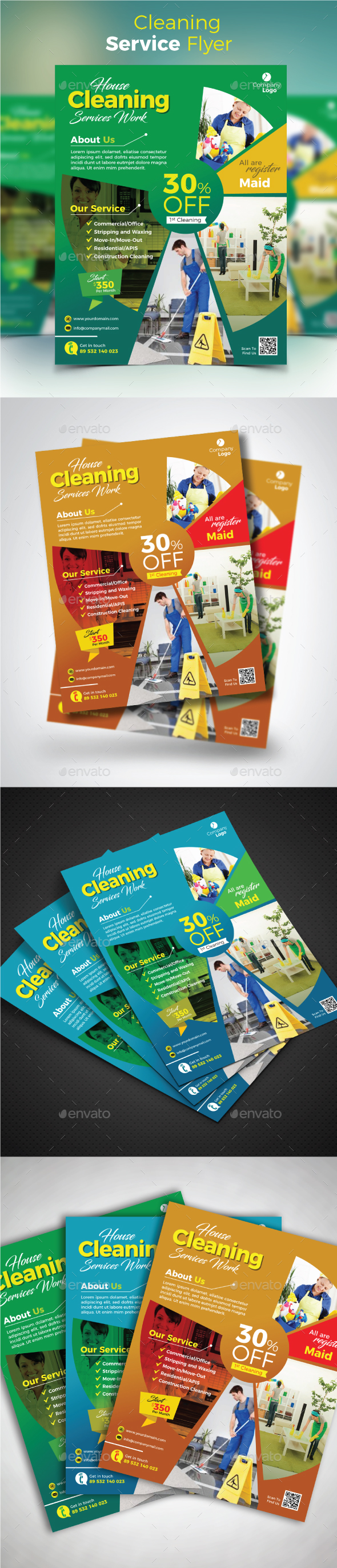 Cleaning Service Flyer - Commerce Flyers