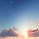 Clouds and Plane - VideoHive Item for Sale