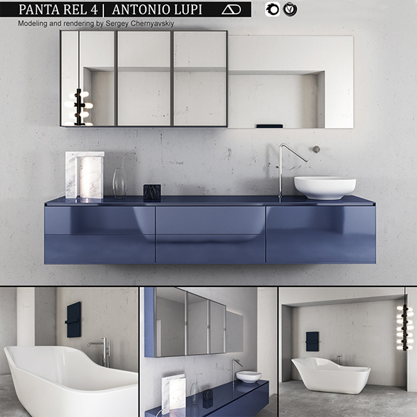 3DOcean Bathroom furniture set Panta Rel 4 20716465
