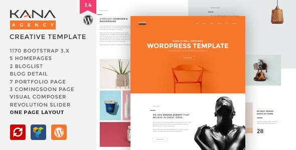 Kana - Creative Agency WordPress Theme - Creative WordPress