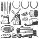 Vintage Agriculture Elements Set