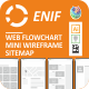 Enif - Web Flowchart, Mini Wireframes or Sitemap