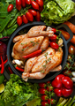 Raw chickens and vegetables. - PhotoDune Item for Sale