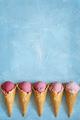 Fresh strawberry ice cream. - PhotoDune Item for Sale