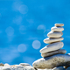 Stones stack over blue sea - PhotoDune Item for Sale