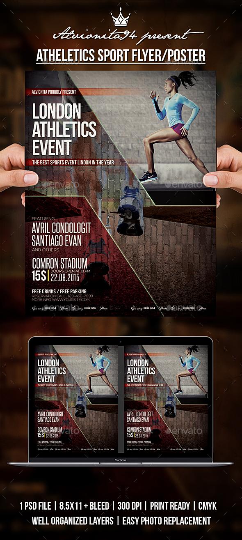 Athletics Sport Flyer / Poster - Sports Events
