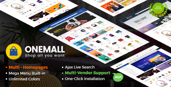 Image of OneMall - Multipurpose eCommerce & MarketPlace WordPress Theme (Mobile Layouts Included)