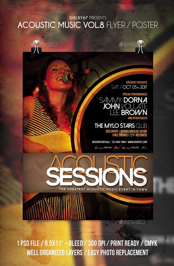 Acoustic Music Flyer / Poster Vol 8 - Events Flyers