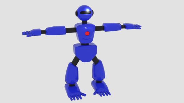Robot Character Cartoon Bot - 3DOcean Item for Sale
