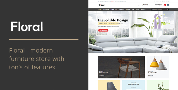Floral - Furniture Store WooCommerce WordPress Theme