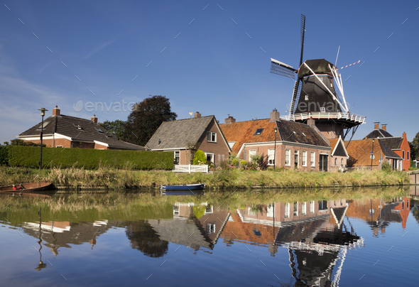The Hunsingo windmill in Onderdendam - Stock Photo - Images