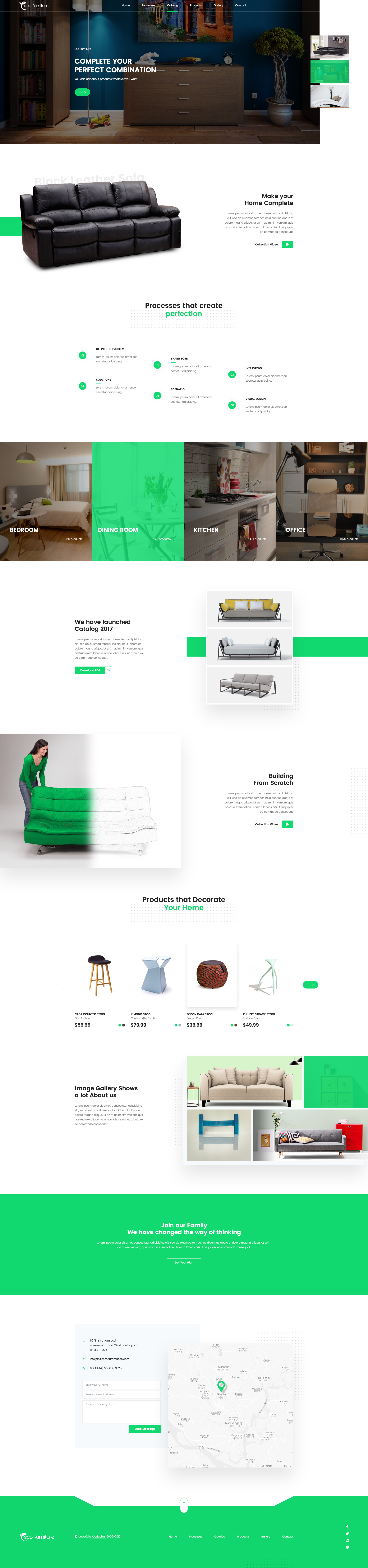 Eco Furniture Lead Generation Landing Page PSD Template By Uxseven - Lead generation website template