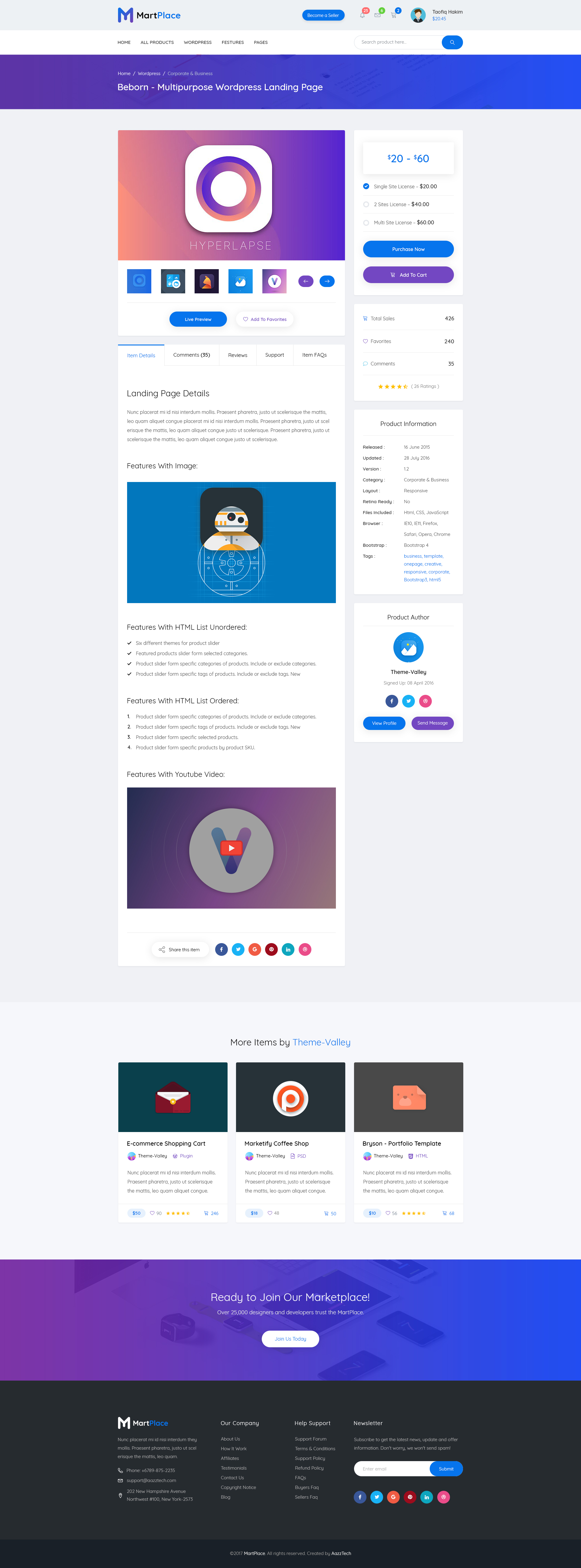 martplace complete online multipurpose marketplace psd template by