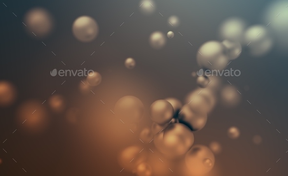 GraphicRiver Abstract 3D Rendering of Flying Spheres 20718344