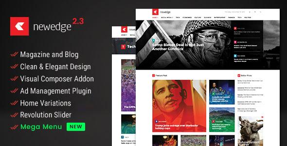 NewEdge - Responsive WordPress Magazine Theme - News / Editorial Blog / Magazine