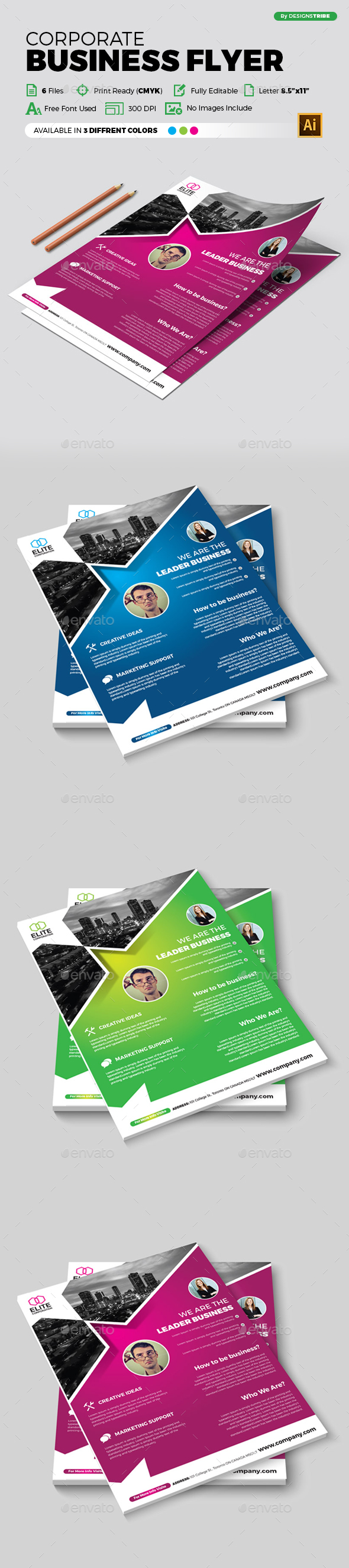 Flyer – Multipurpose 345 - Flyers Print Templates