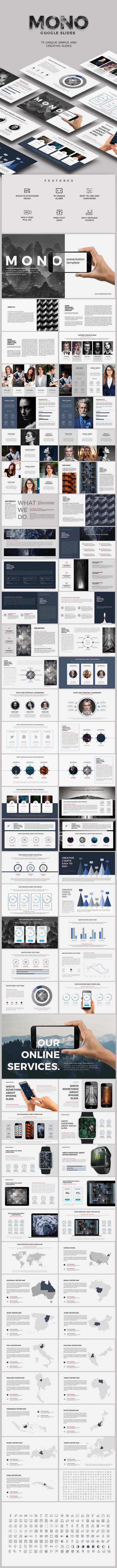 Mono Google Slides - Google Slides Presentation Templates