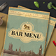 Retro Bar Menu - GraphicRiver Item for Sale