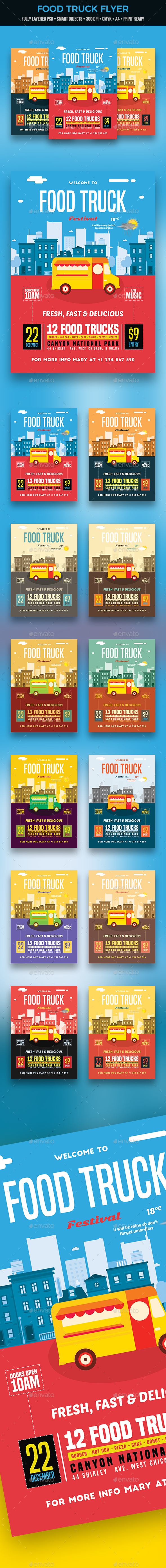 Food Truck Flyer - Restaurant Flyers