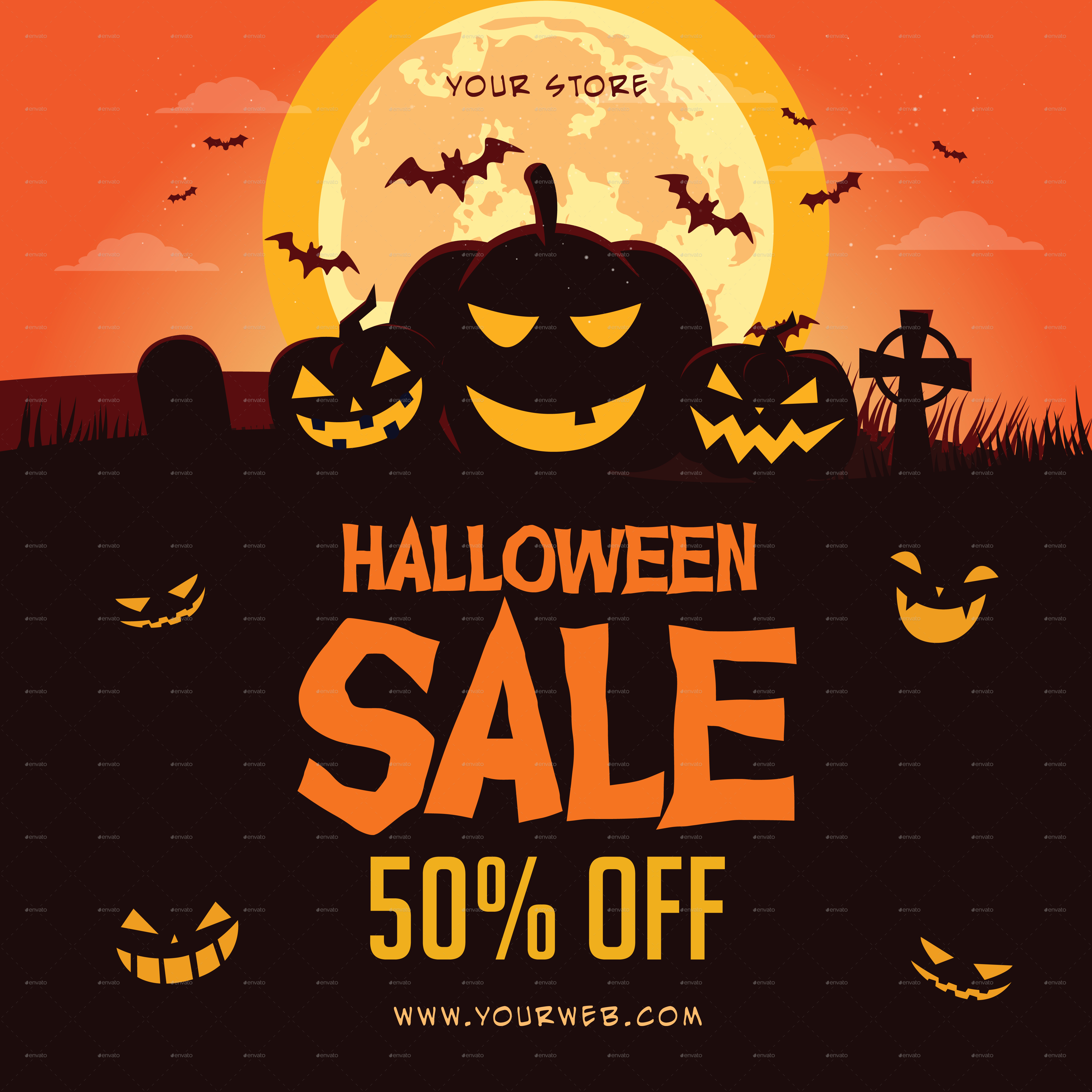 Halloween Sale Flyer by infinite78910 | GraphicRiver