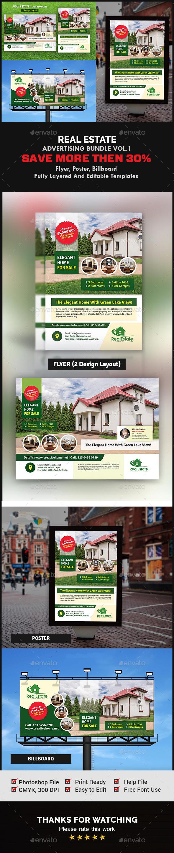 Real Estate Advertising Bundle Vol.1 - Signage Print Templates