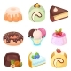 Vector - Set of Delicious Sweets and Desserts