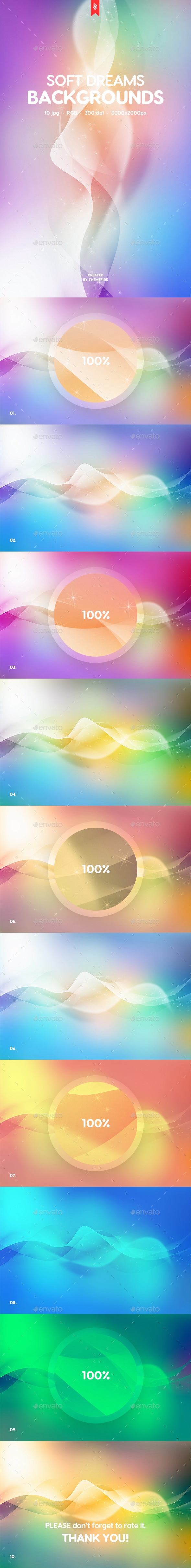 GraphicRiver Soft Dreams Backgrounds 20719869