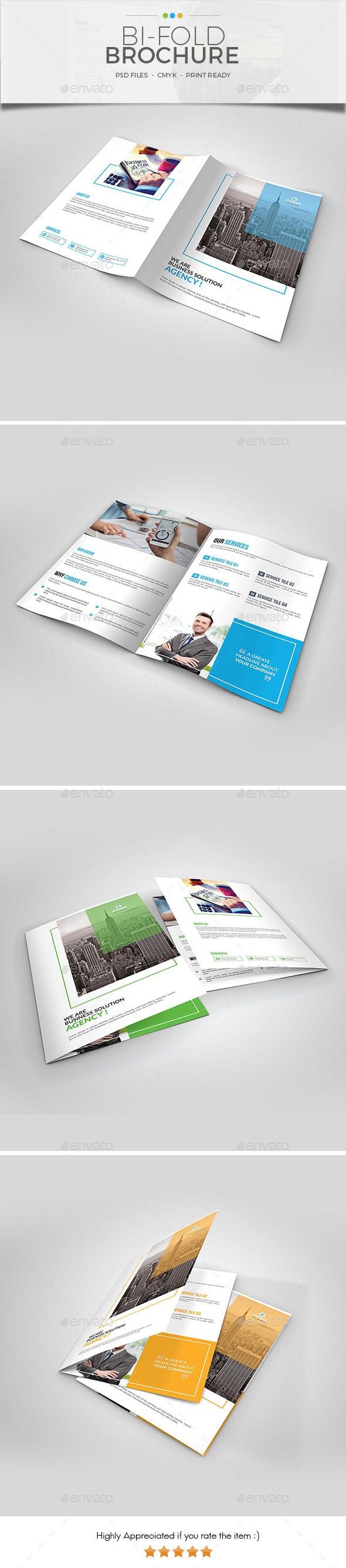 Bi Fold Brochure Template 02 - Brochures Print Templates