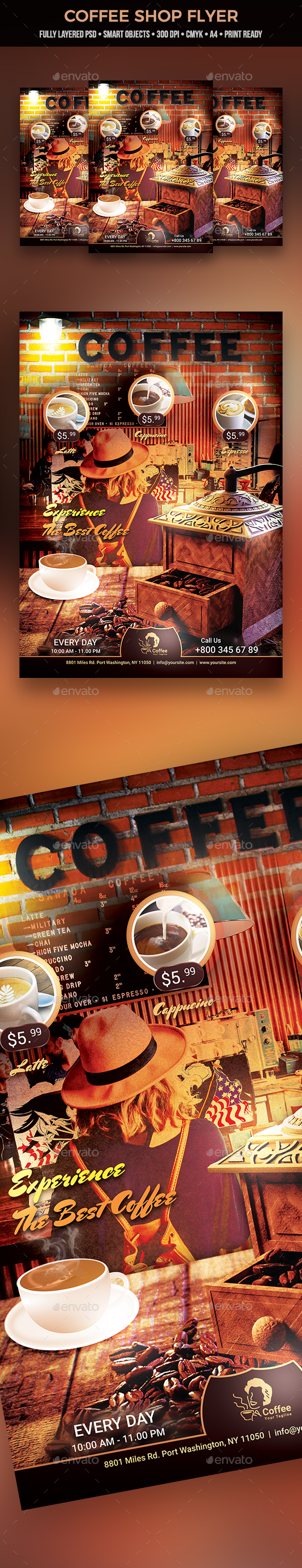 Coffee Shop Flyer - Restaurant Flyers