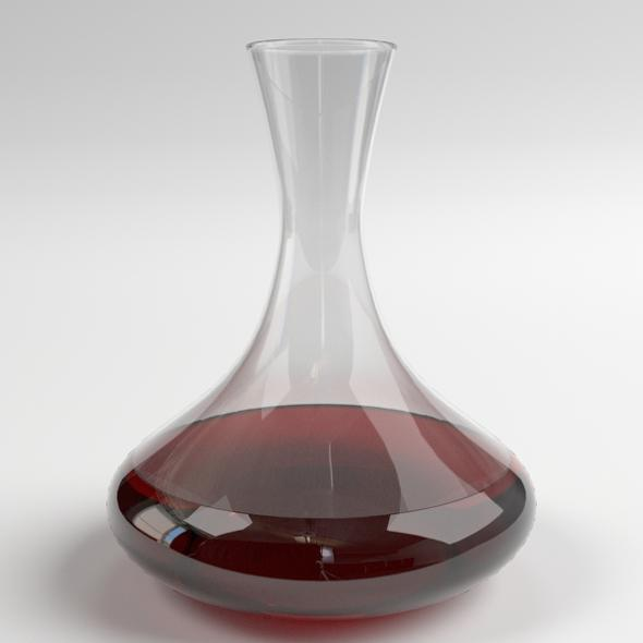 Wine Decanter - 3DOcean Item for Sale